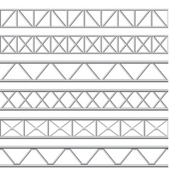 metal truss girder steel pipes structures roof vector image