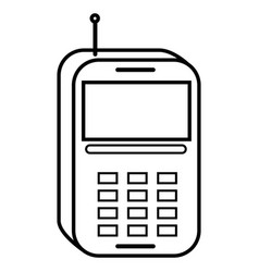 Mobile phone technology vector