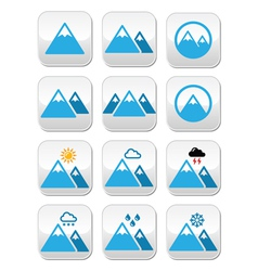 mountain buttons set colour vector image