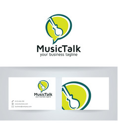 Music talk logo design vector