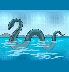Nessie monster pop art vector