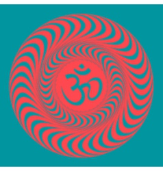 Om symbol on hypno background vector