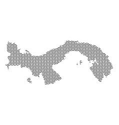 Panama map country abstract silhouette of wavy vector