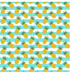 pattern with pineapple and stripes vector image