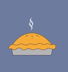 Pie dessert icon vector