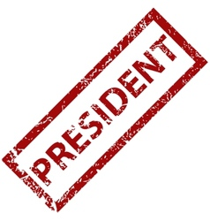 President rubber stamp vector image