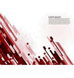 Red color geometric abstract background vector