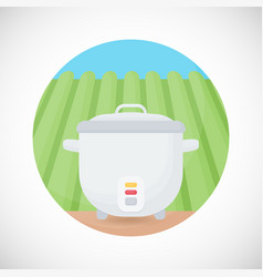 rice cooker flat icon vector image