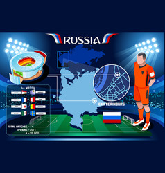 Russia ekaterinburg arena ural vector