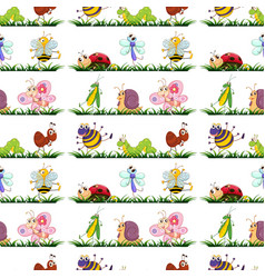 Seamless pattern tile cartoon with vector