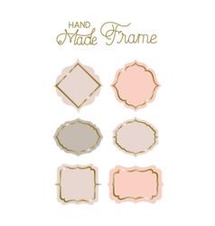 Set of victorian hand made frames vector