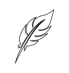 Single feather icon image vector