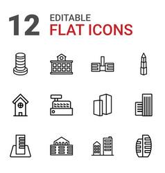 skyscraper icons vector image