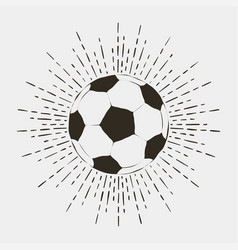 soccer or futball ball print vector image