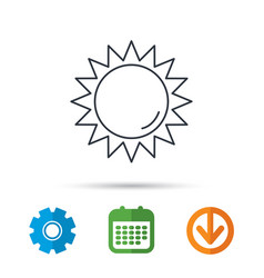 Sun rays icon summer sign vector