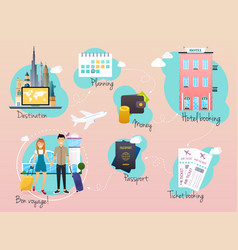 travel and tourism infographic infographics for vector image vector image