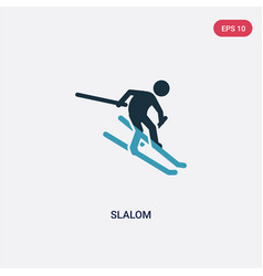 two color slalom icon from sports concept vector image