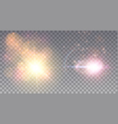two cosmic outbrusts vector image