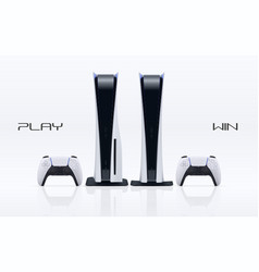 two game station types white and black vector image