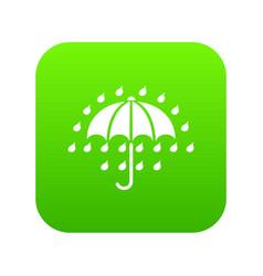 umbrella icon green vector image