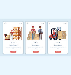 warehouse for mobile app logistic theme vector image