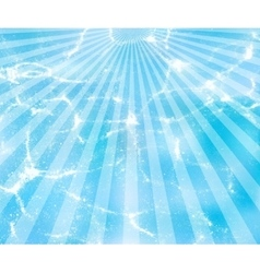 Water background with sun rays vector