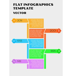 white flat infographcs vector image vector image