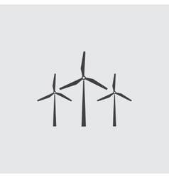Wind mill icon vector image