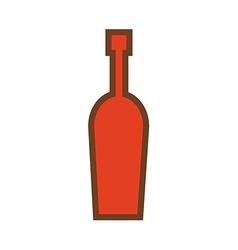 wine bottle logo vector image