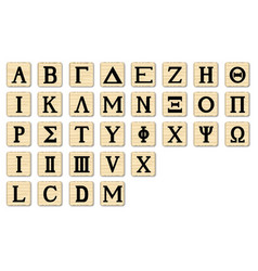 Wooden alphabet letters vector