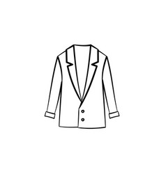 Wool coat hand drawn sketch icon vector