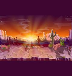 cartoon desert seamless game background vector image vector image