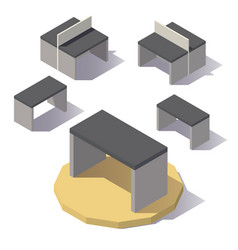 isometric lowpoly table vector image vector image