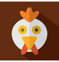 Modern Flat Design Chicken Icon vector image vector image
