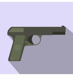 Pistol flat icon vector image