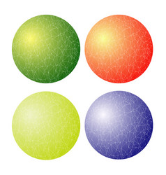 set of colorful spheres vector image vector image