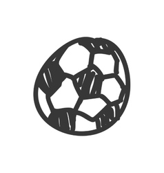 soccer ball icon Sketch design graphic vector image vector image