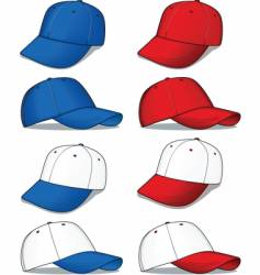 baseball caps red and blue vector image vector image