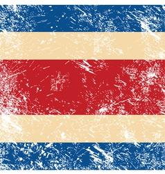 Costa Rica retro flag vector image vector image