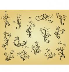 set of vintage decorations vector image vector image