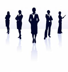 silhouettes of business woman vector image