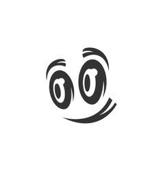 Cartoon eyes icon isolated on white background vector image vector image