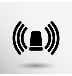 icon beacon siren isolated caution police white vector image vector image