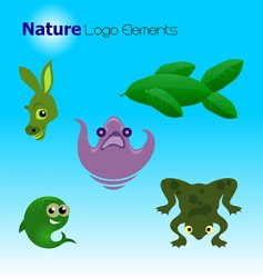 nature logo elements vector image vector image