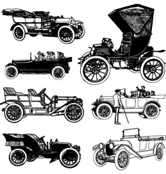 Antique cars vector image