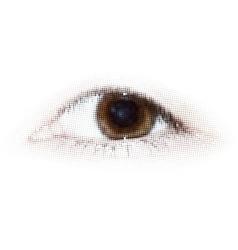 Human halftone dots eye EPS 8 vector image