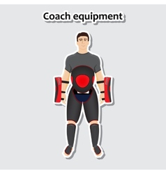 Man with coach equipment vector