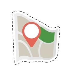 Map world pointer destination travel cut line vector