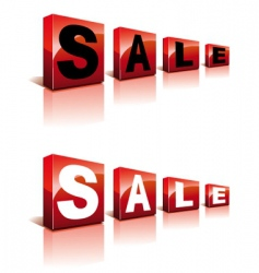 sale cubes vector image vector image