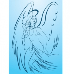 woman angel vector image